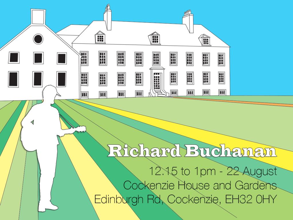 Richard Buchanan, 12.15 to 1pm, 22 August, Cockenzie house and gardens, Edinburgh Road, Cockenzie, EH32 0Hy